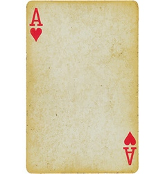 Playing card ace vector