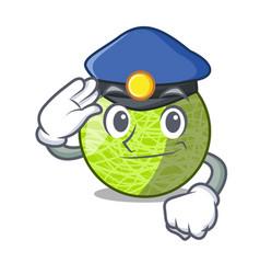 police fresh melon isolated on character cartoon vector image