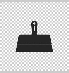 putty knife icon on transparent background vector image