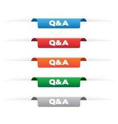 Question and Answer paper tag labels vector image