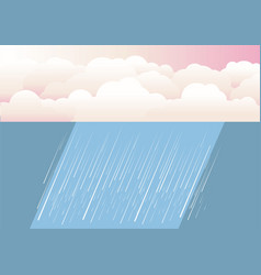 Rain clouds nature background vector
