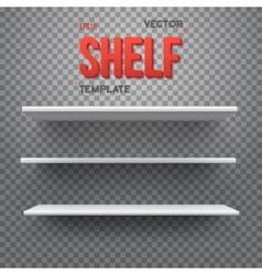 Realistic Shelf EPS10 Empty Shelf for vector image