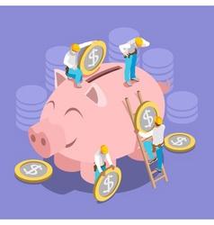 Saving Money Concept Isomeric vector