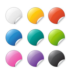 set of colored stickers with place for text vector image