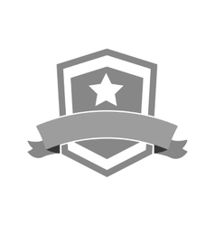Shield star banner icon vector