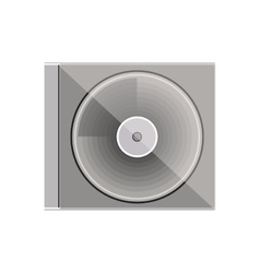 Silhouette gray scale compact disc box vector