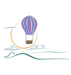 Sky balloon vector image