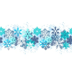 Snow border vector