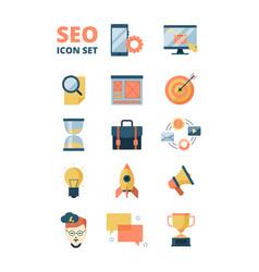 social media icon promotion web advertizing vector image