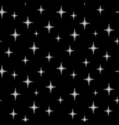 Stars chaotic seamless pattern 1309 vector