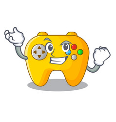 successful video game controller shaped on vector image