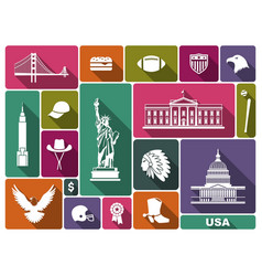 symbols of the usa vector image