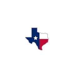 texas star logo design abstract map vector image