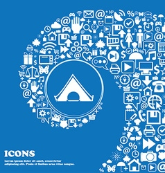 The tent icon Nice set of beautiful icons twisted vector