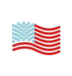 usa flag linear style sign of state united states vector image