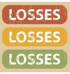 Vintage LOSSES stamp set vector image