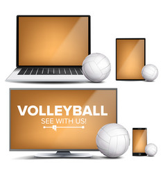 Volleyball application field volleyball vector