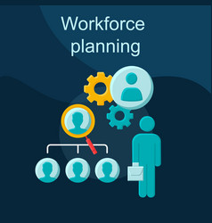 Workforce planning flat concept icon vector