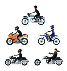 Motorcycle Riders Bikers vector image