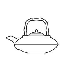 outline asian teapot vector image