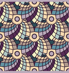 seamless pattern with geometric floral pattern vector image