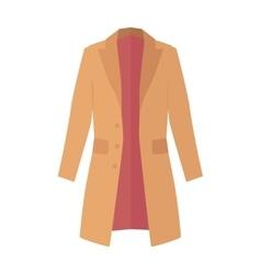 Winter Autumn Coat or Trench Coat vector image
