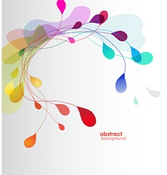 Abstract colored background with leafs vector image vector image