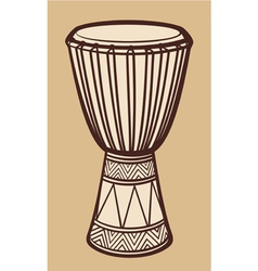 African Drum-Music Instrument vector image