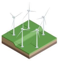 Flat 3d isometric Wind vector image vector image