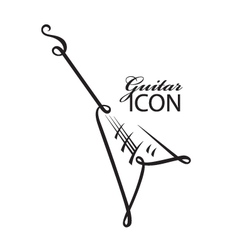icon with electric guitar vector image