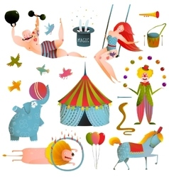 Circus Carnival Show Clip Art Vintage Collection vector image