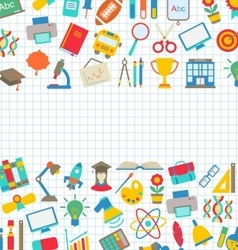 Collection of School Colorful Icons Wallpaper for vector image