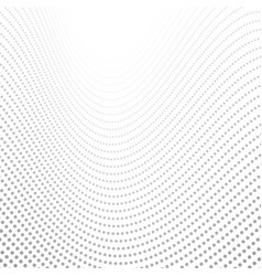 grey tech wavy dotted lines abstract background vector image