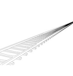Image railway track vector
