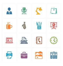 Office Icons - Colored Series vector image