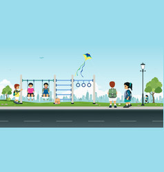 playground after school vector image