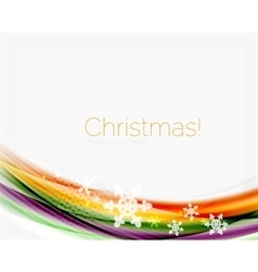 Blurred wave line with snowflakes Christmas vector image