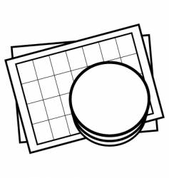 database sheet icon vector image vector image