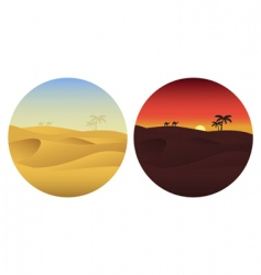 day and night in desert vector image