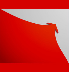 Red arrow goes up on a white background vector
