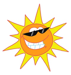 Smiling Sun Cartoon Character vector image vector image