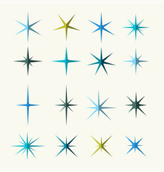 sparkles symbols various shades vector image vector image