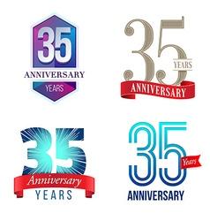 35 Years Anniversary Symbol vector
