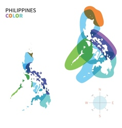 abstract color map philippines vector image