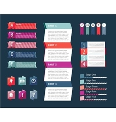 Abstract infographics isolated element set vector