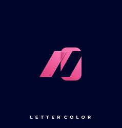 abstract letter template vector image