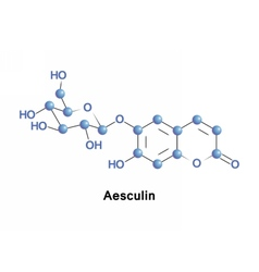 Aesculin is a coumarin glucoside vector