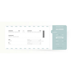 airline boarding pass template ticket for vector image