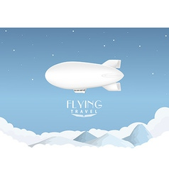 Airship travel background vector image