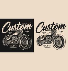 American custom motorcycle print vector